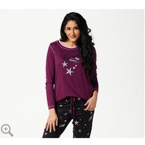 Cuddl Duds Cozy Jersey Pajama Set Socks Knit Fair Isle M NEW A294922